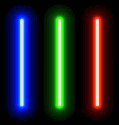 EPS10 glowing light swords vector