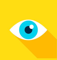 Eye flat icon vector