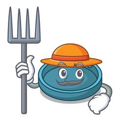 farmer ashtray character cartoon style vector image