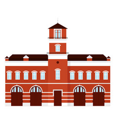 Fire station cartoon vector