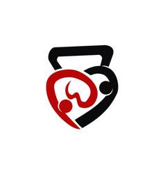 fitness lover logo design template vector image