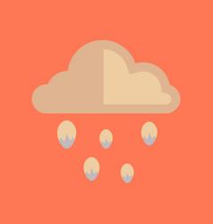 Flat icon on stylish background cloud hail vector