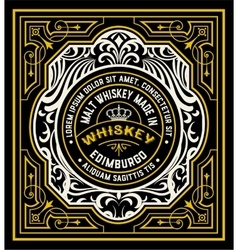 Floral Label for Whiskey packing or other products vector