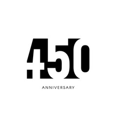 four hundred fifty anniversary minimalistic logo vector image