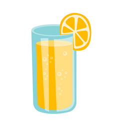 glass of orange juice cartoon vector image