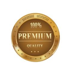 Golden badge premium quality vector