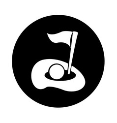 Golf hole isolated icon vector