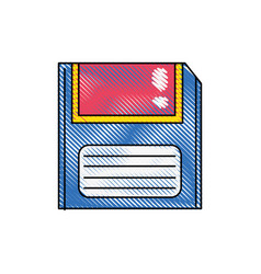 Grated retro diskette technology with data vector