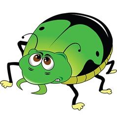 Green beetle vector