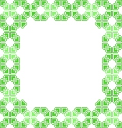 Green frame with abstract patterns vector