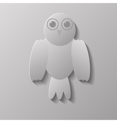 Grey Bird vector image