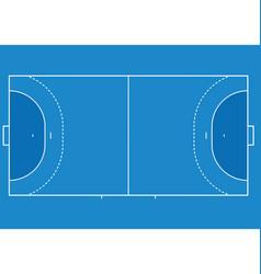 Handball court vector