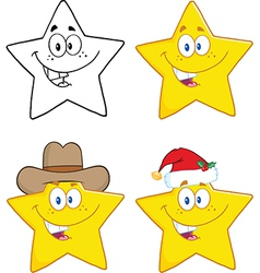 Happy star cartoon vector