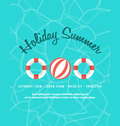 happy summer day poster collection vector image