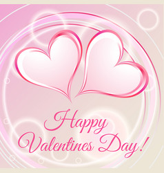 happy valentines day romantic card vector image