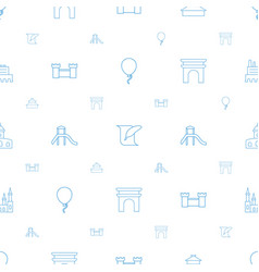History icons pattern seamless white background vector