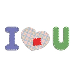i love you patches vector image