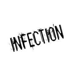 Infection rubber stamp vector