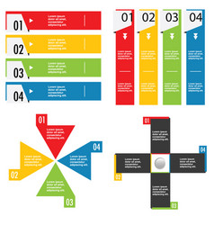 Infographic set in color design vector