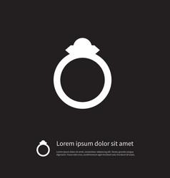 isolated engagement icon wedding element vector image
