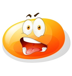 Jelly bean with shocking face vector image