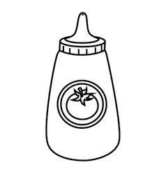 Ketchup in bottle icon vector image