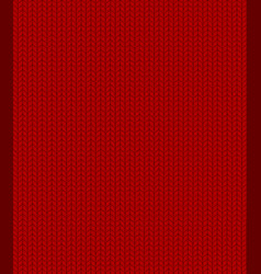 knitted red pattern vector image