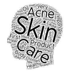 Learn Your Skin Care Facts text background vector image