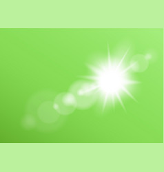 lens light bokeh green background vector image