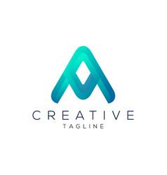 letter a professional gradient logo design vector image