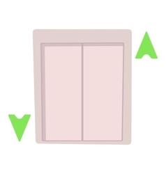 Lift icon cartoon style vector