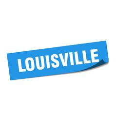 Louisville sticker louisville blue square peeler vector