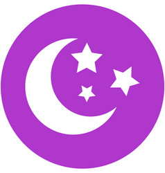 moon and stars in circle icon vector image