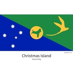 National flag of Christmas Island with correct vector image