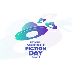 National science fiction day january 2 holiday vector