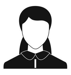 new woman avatar icon simple vector image
