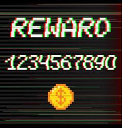 pixel reward phrase vector image