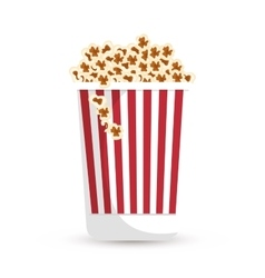 Pop corn bucket white background vector