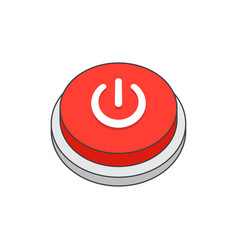 power icon shutdown vector image