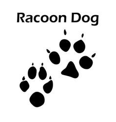 racoon dog footprint vector image