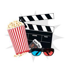 Realistic movie icon movie icon clapperboard 3d vector