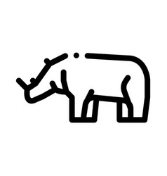 rhinoceros icon outline vector image