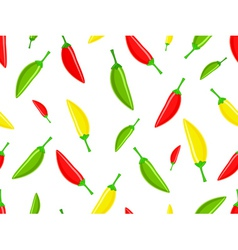 Seamless pattern with hot chili peppers vector image