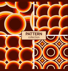 set four seamless patterns modern stylish vector image