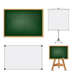 set of blank boards for education vector image