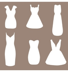 Set of woman little black dresses vector image