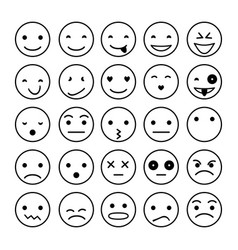 smile icons isolated on white vector image