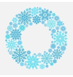 Snowflake wreath for Christmas invitation vector