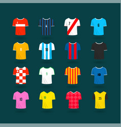 soccer team t-shirts color samples clipart vector image