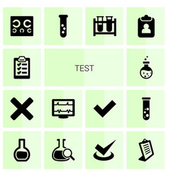 Test icons vector